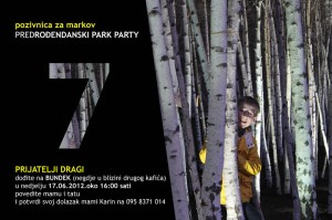 Predrođendanski park party
